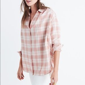 Madewell Central Plaid Button Up Shirt Danville
